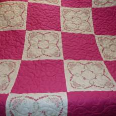 Barbara's Mother's Embroidered Blocks Quilt