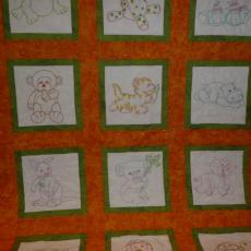 Embroidered Animals Quilt