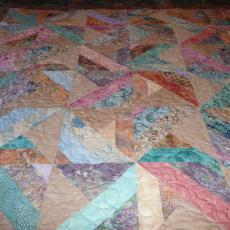 Alyce's Batik Throw Quilt