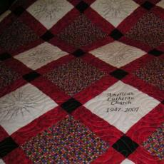 American Lutheran's 60th Anniversary Quilt