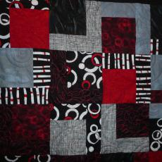 Red, Grey and Black CASA Quilt