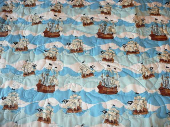 Bev's Pirate Baby Quilt backing