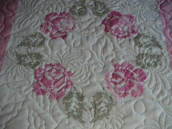 Carol's Rose Wreath Quilt