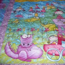 Carol's Bright Baby Quilt