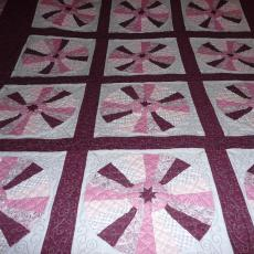Carol's Cathedral Windows Quilt