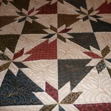 Cheryl's Hunter Star Quilt