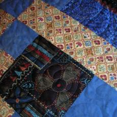 Deloris's Blue Medallion Quilt