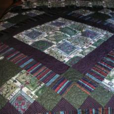 Deloris's Purple Medallion Quilt