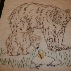 Embroidered Bear Quilt