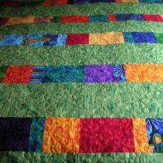 Jana's Bright Leftovers Quilt