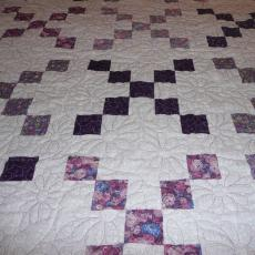 Jane's Purple Flower Quilt
