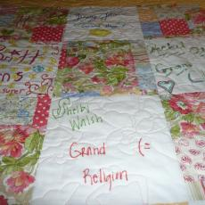 Laurie's Rainbow Girls Quilt 2012