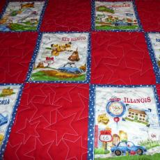 Larry's Birthday Route 66 Quilt