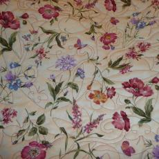 Linda's Wild Flower Rhapsody Quilt backing