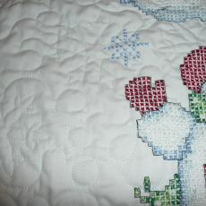 Linda's Cross Stitch Snowmen Quilt