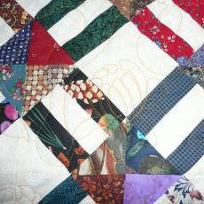Lois's Scrappy Quilt