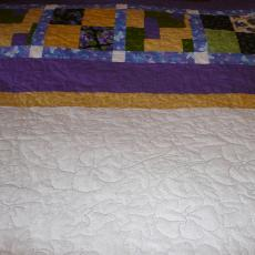 Luci's Pansy Quilt backing
