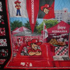Matt and Sarah's Go Big Red Quilt