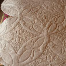 Double Wedding Ring Quilt backing