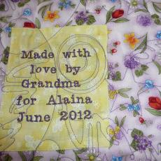 Alaina's Quilt backing