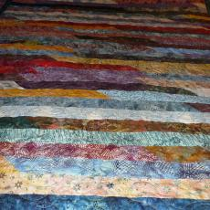 Mary's Batik Jelly Roll Quilt