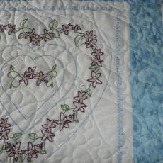 Rose Anne's Embroidered Quilt