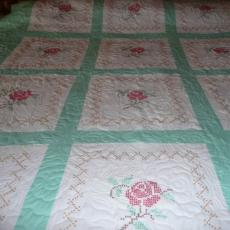 Ruth's Embroidered Rose Quilt