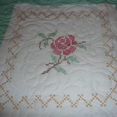Ruth's 2nd Embroidered Rose Quilt