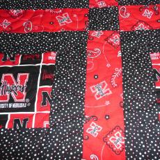 Sandy's 2nd UNL Football Quilt