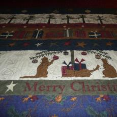 Christmas Alphabet Quilt backing