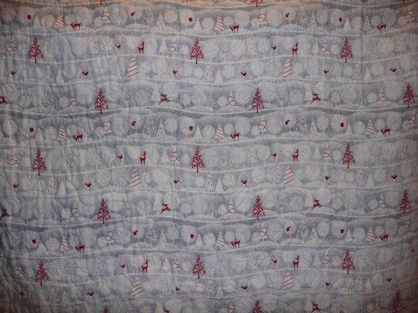 Reindeer Christmas Quilt backing