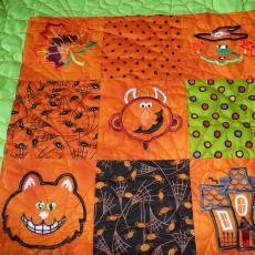 Halloween Embroidered Quilt