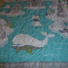 Whale, Bear and Snow Quilt