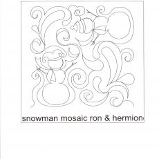 Beany-Snowman Mosaic Ron Hermione