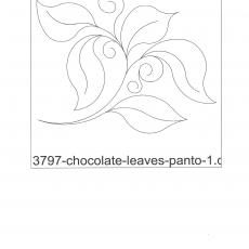 OSNA 3797 Chocolate Leaves Panto
